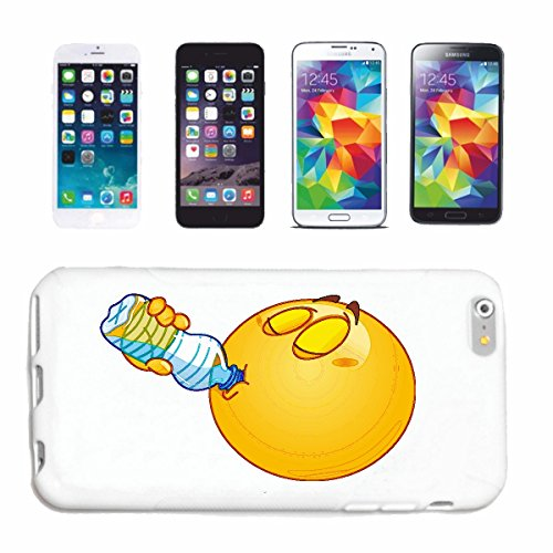 "cas de téléphone iPhone 5 / 5S ""SMILEY POTABLE À PARTIR D' UNE BOUTEILLE D'EAU ""smile EMOTICON APP de SMILEYS SMILIES ANDROID IPHONE EMOTICONS IOS"" Hard Case Cover Téléphone Covers Smart Cover pour Ap"