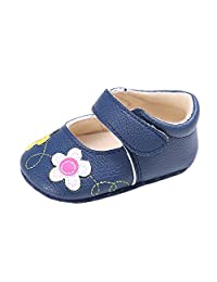 Estamico Newborn Infant Baby Girls Crib Shoes Toddler Soft Sole Anti-Slip Flower Sneakers