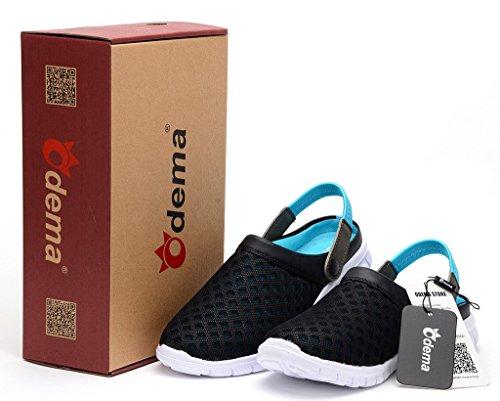 Odema Die Mesh-Schuhe Sandalen Hausschuhe der Herren Schwarzblau