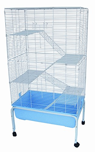 YML 5 Levels Indoor Animal Cage Cat Ferret with Stand, Blue