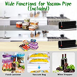 Vacuum Sealer Machine for Food Preservation/ Automatic food sealer machines|Dry & Moist Modes|Led Indicator Lights|UL…