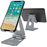 Foldable Tablet Stand Cell Phone Stand, Tecboss Multi-Angle Universal Alloy Stand for iPad, Air, Pro, iPhone X 8 7 Plus, Nintendo Switch, Galaxy S8, Nexus All 3.5-13 inch - Space Grey