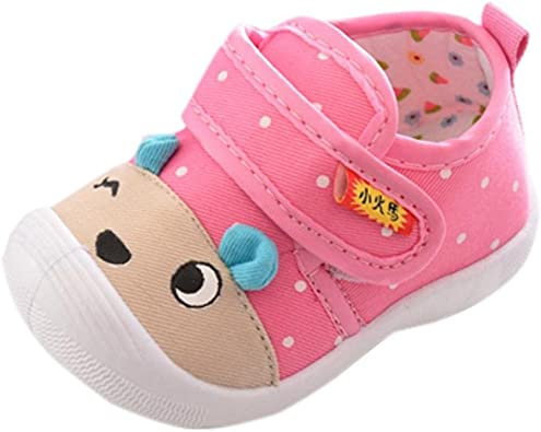 Baby Girls Cute Cartoon Anti-Slip Soft Sole Squeaky Sneakers Infant Kids Hook Loop Shoes Gifts SHOBDW Boys Shoes