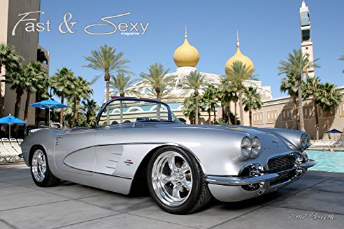 Fast & Sexy, Inc. 1961 C1 Corvette Convertible Poster (12x18 inches)