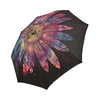 WECE Nebula Galaxy Space Daisy Automatic Foldable Umbrella Compact Parasol Umbrella Windproof Rainproof