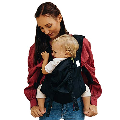 Boba Air Baby Carrier -Black - Breathable mesh Shoulder Straps, Padded Leg...