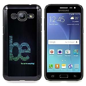 "A-type Arte & diseño plástico duro Fundas Cover Cubre Hard Case Cover para Samsung Galaxy J2 / J200 (Hermosas Naturaleza Hojas frescas del árbol Crecer"")"