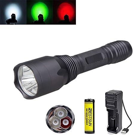 Noir 9 DEL lumière blanche lampe de poche torche astronomie vision nocturne camping chasse