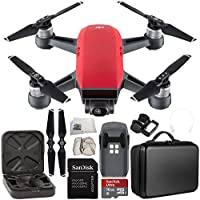 DJI Spark Portable Mini Drone Quadcopter Starter Portable Bag Shoulder Travel Case Bundle (Lava Red)
