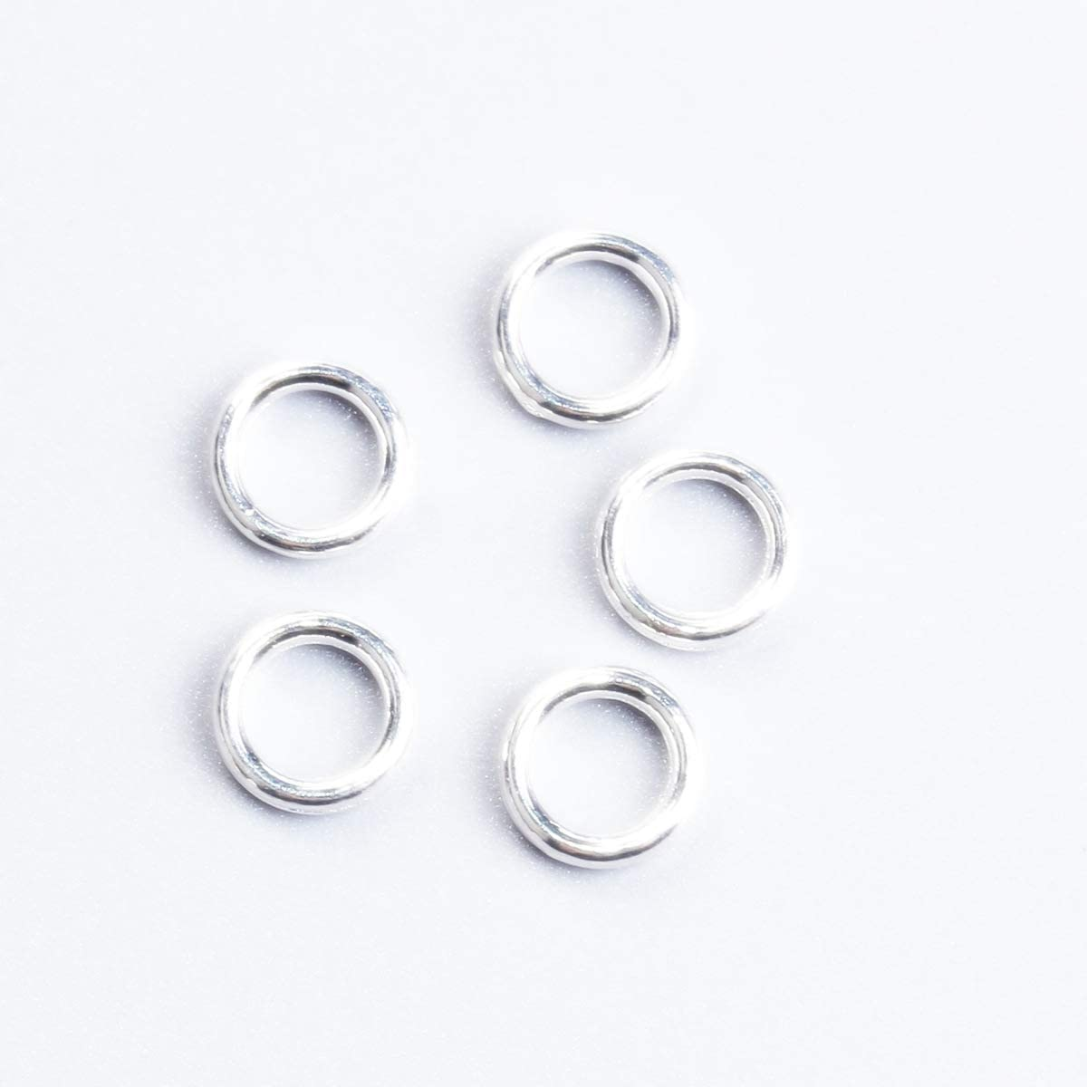 Gauge 22 Jump Rings 500 Silver Plated 6mm Soldered Jump Rings