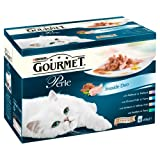 Purina Gourmet Perle Wet Cat Food Mini Fillets in Gravy, 12 x 85 g - Seaside Duo (Pack of 4)