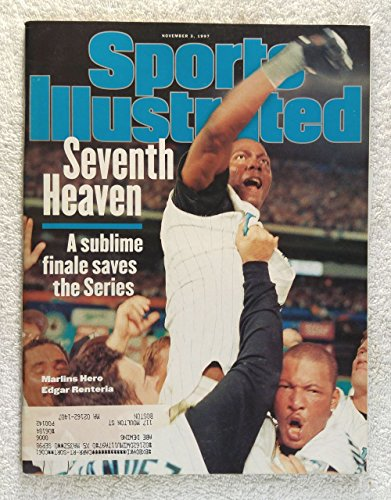 Edgar Renteria - Florida Marlins - 1997 World Series Champions! - Sports Illustrated - November 3, 1997 - Cleveland Indians - ()
