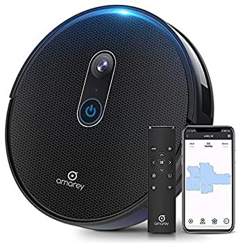 Image of Amarey A980 Robot Vacuum with Vision Mapping Camera - Self-Charging Robotic Vacuum Cleaner Work with Alexa Wi-Fi APP, 1600Pa Strong Suction, 110 min Runtime, for Pet Hair Carpets, 2 Boundary Strip Home and Kitchen