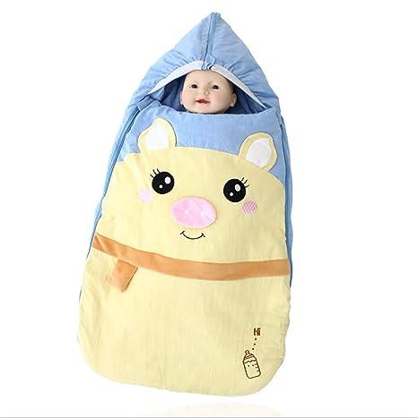 Bebé recién nacido envuelto en una manta, saco de dormir para bebés, saco de