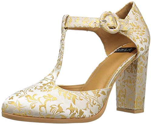 Brocade Pumps - N.Y.L.A. Women's Olybillie Dress Pump, Gold Brocade, 9 M US