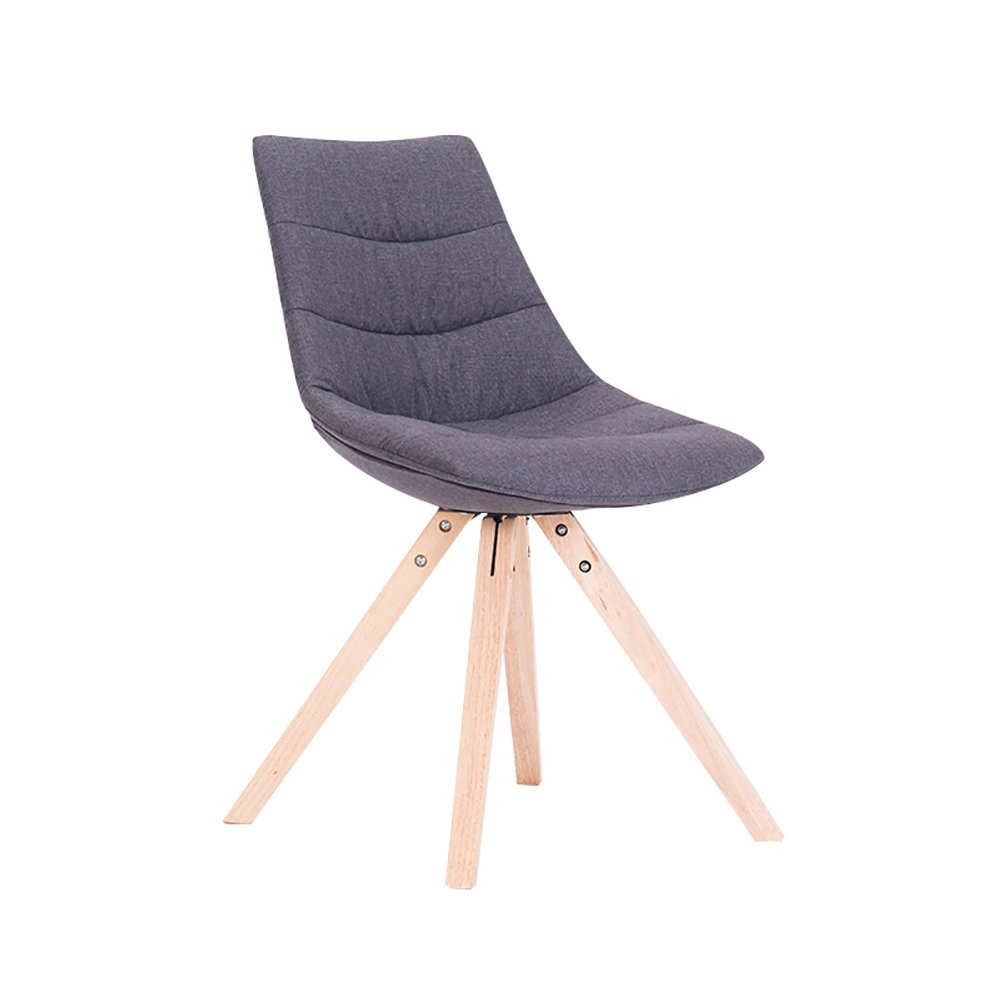 快適な背もたれの椅子家庭用洋食レストランカフェダイニングチェア北ヨーロッパソリッドウッドモダンシンプルなソフトケースカジュアルチェア (色 : 暗灰色, サイズ さいず : Set of 2) B07F3QS815 Set of 2|暗灰色 暗灰色 Set of 2