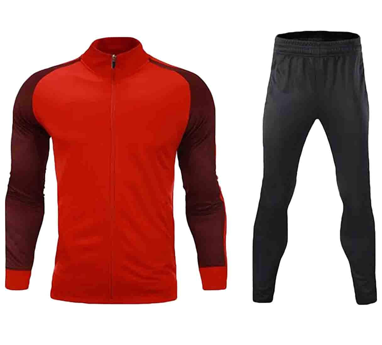 Rrive Mens 2 Pieces Zipper Jacket with Workout Pants Tracksuit Outfit Set