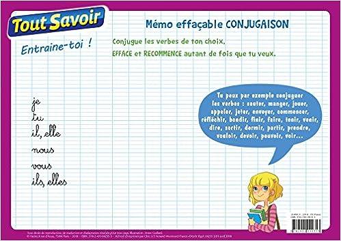 Amazon Com Memo Effacable Conjugaison Cycle 3 Tout Savoir French Edition 9782401042353 Books