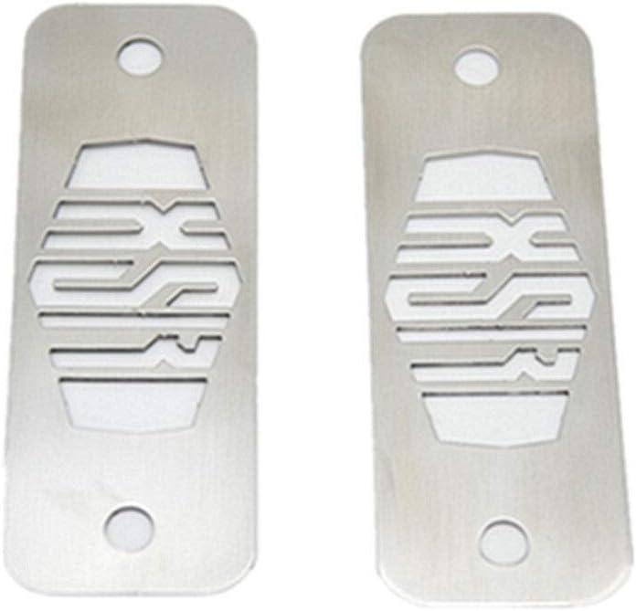 Color : Silver Edelstahl Sicherungskasten Top Platten pulverbeschichtet Gloss Schwarz//Silber-Motorrad-Teile for Yamaha XSR900 CHENWEI