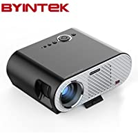 LED Projector BYINTEK GP90 Full HD Video Projectors WXGA 720P HDMI VGA 1080P Multimedia Home Theater Cinema Entertainment Movie Party Game Projector for Laptop iPad Smartphone