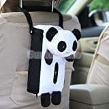 MAZIMARK-Cute Animal Soft Plush Panda Paper Napkin Tissue Box Cover Car Home Decor