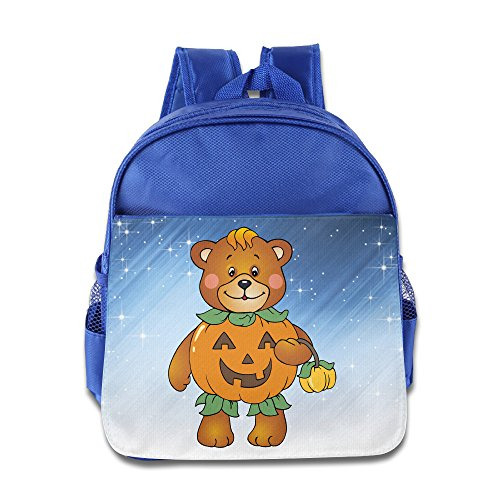[Boomy Funny Halloween Pumpkin Bear Kids' Backpack For 3-6 Years Old Kids RoyalBlue Size One Size] (Crosby Halloween Costume)