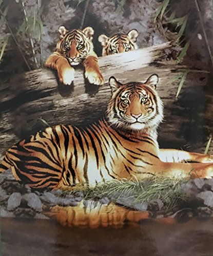 Animal Print Queen Blanket (Tigers)