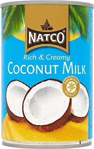 Natco Leche de coco orgánica - 400 ml x6: Amazon.es: Alimentación y bebidas