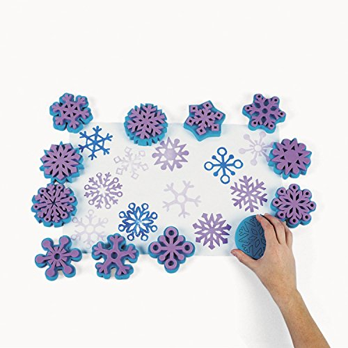 Fantastic Foam Snowflake Stamps (1 dz) ()