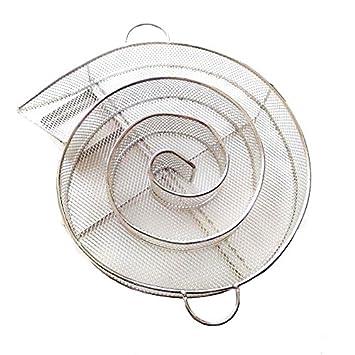 Cikuso Accesorios para Barbacoa Generador de Humo Frio Parrilla de Barbacoa de Acero Inoxidable Herramientas de Cocina Herramientas para Fumar astillas de ...