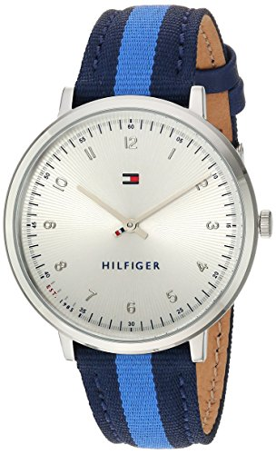 Tommy Hilfiger Women's 'SPORT' Quartz Stainless Steel and Nylon Casual Watch, Color:Blue (Model: 1781767)