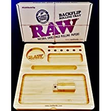 Raw® Backflip Magnetic Bamboo Rolling Tray