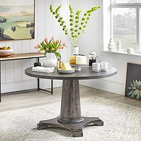 Angelo Home Dining Table Ariane Grey Amazon Co Uk Kitchen Home