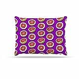 KESS InHouse Evgenia ''Pomelo'' Purple Red Dog Bed, 30'' x 40''