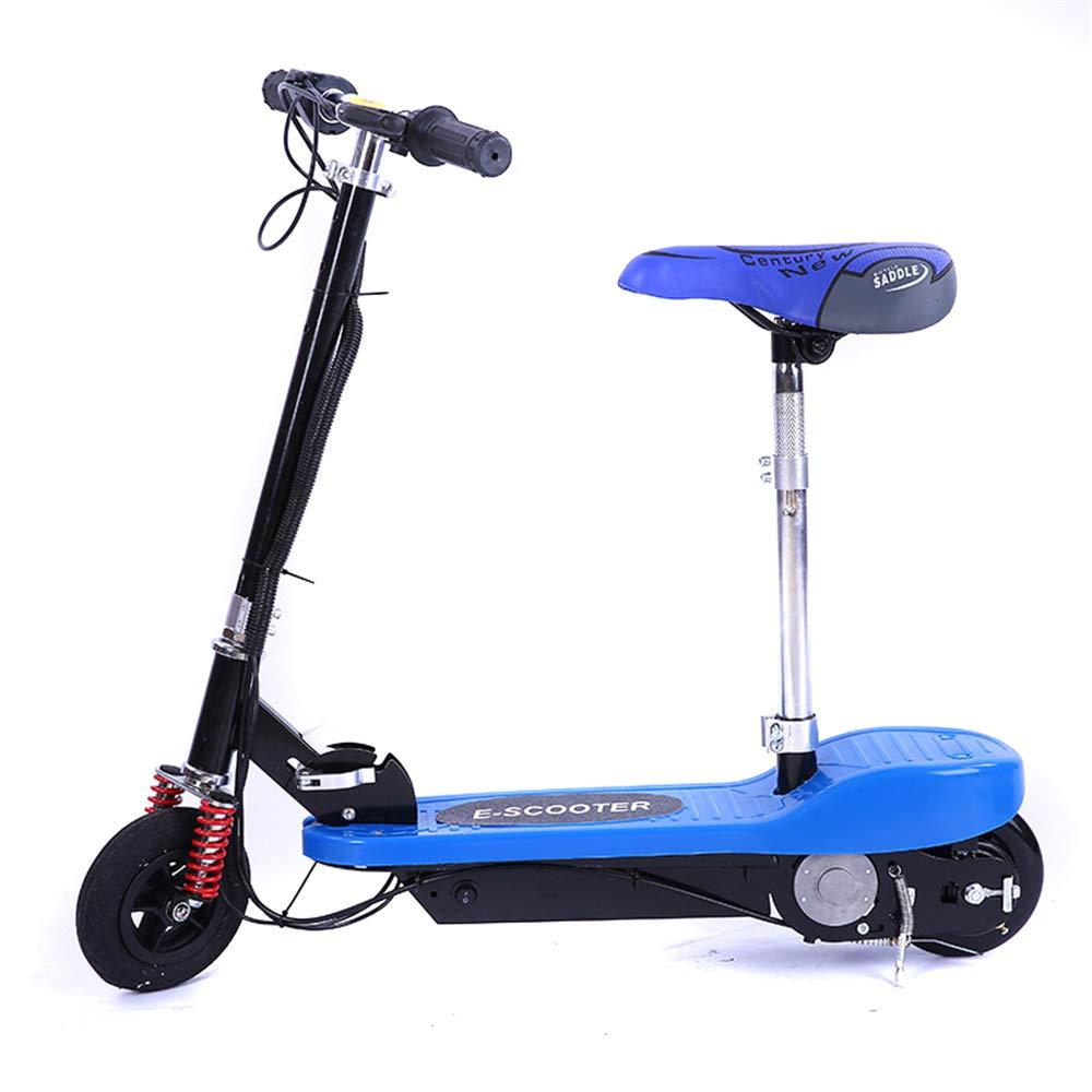 電動キックボード かわいいスタイルのダブルホイールブースターリチウム電池折り畳み式の屋外旅行の男の子と女の子の贈り物(10009009) 青