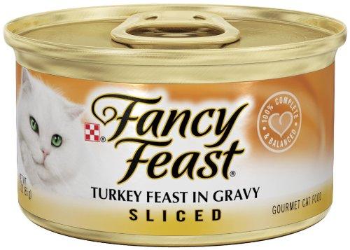 Fancy Feast Gourmet Cat Food, Sliced Turkey Feast in Gravy, 3-Ounce Cans (Pack of 24), My Pet Supplies