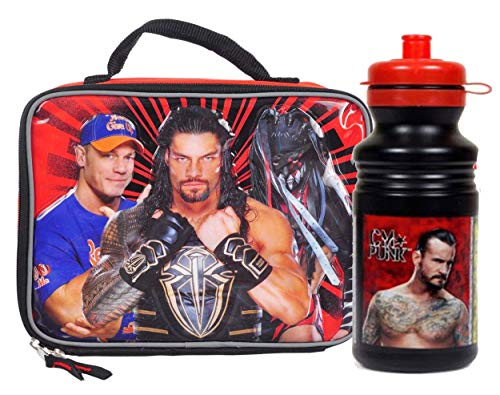 Boy's''School Ready'' WWE Insulated Lunch Box & 16oz Pull Top Water Bottle! BPA Free, 2pc Set! by Ruz