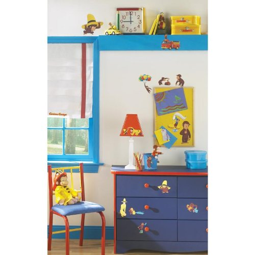 Curious George Wall Decal 6 x 11in