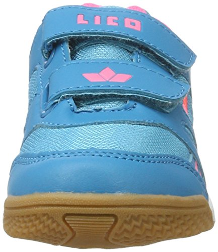 Lico Active Indoor V, Zapatillas de Balonmano para Niñas Turquesa (Tuerkis/pink)