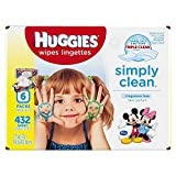HUGGIES Simply Clean Fragrance-free Baby Wipes, Soft Pack (6-Pack, 432 Sheets Total), Alcohol-free, Hypoallergenic