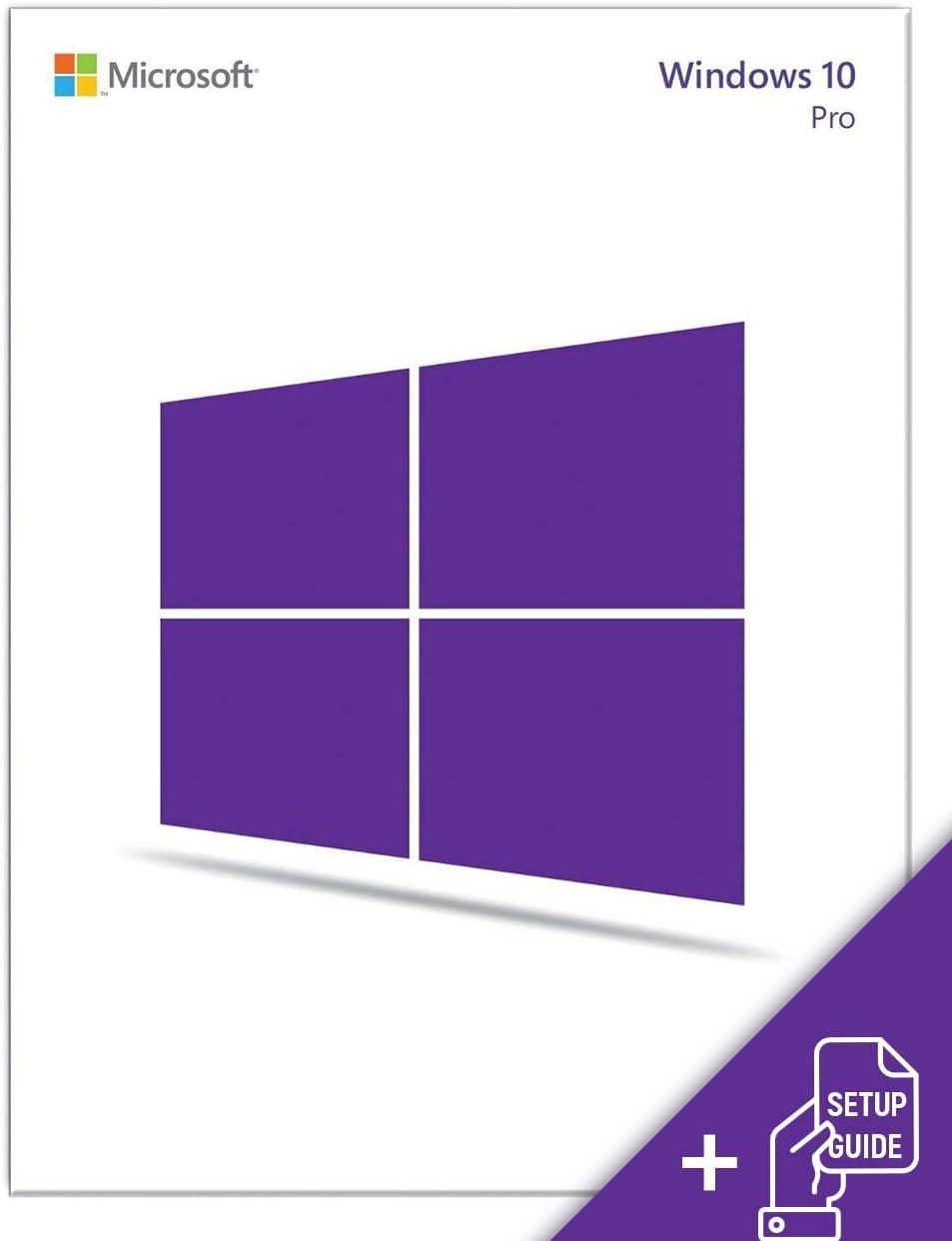 Windows10 Professional USB 64/32 Flash Drive ENGLISH | Bundled with Setup Guide