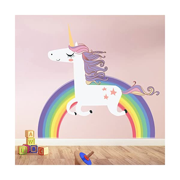 azutura Unicorn Wall Sticker Rainbow Wall Decal Art Girls Bedroom Nursery Home Decor Available in 8 Sizes X-Large… 3