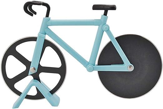 chenqi Cortadores de pizza Bicicleta de acero inoxidable Rueda ...