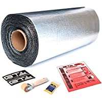 GTMAT Supreme 110mil 24sqft Four Door Kit Automotive Sound Dampening Deadening Super Thick Mat - Installation Kit Includes: 24sqft Roll (18in x 168) Instruction Sheet, Application Roller, Degreaser, GT MAT Decals