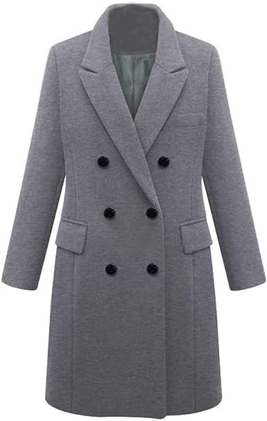Manteaux pour Dames Manteau D Hiver en Laine Manteau Trench
