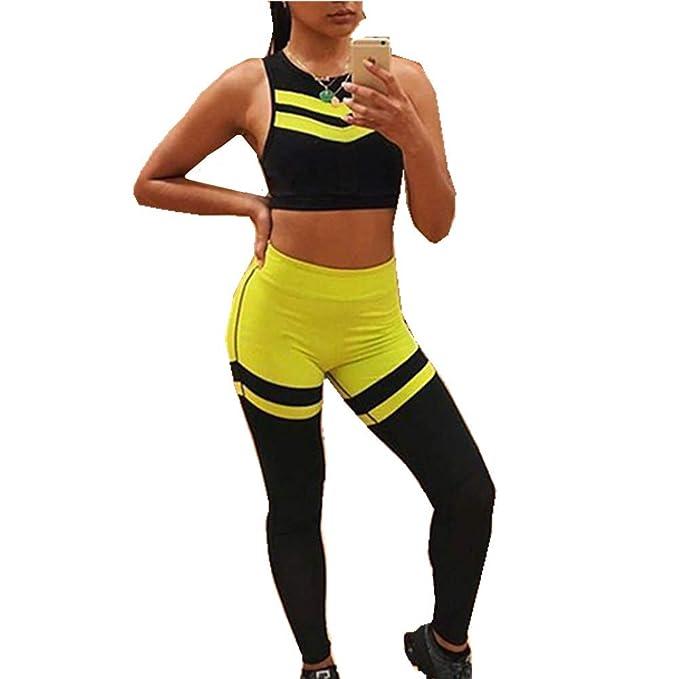 Yoga Conjunto de Mujer, Morbuy Mujeres Chaleco Deportivo Top ...