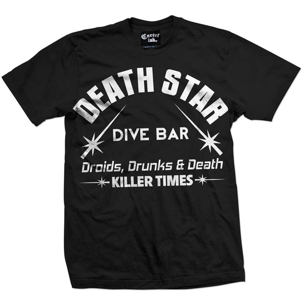 Amazon.com: Cartel Ink Mens Death Star Dive Bar T-Shirt ...