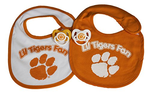 NCAA Clemson Tigers Infant Bib and Pacifier Set