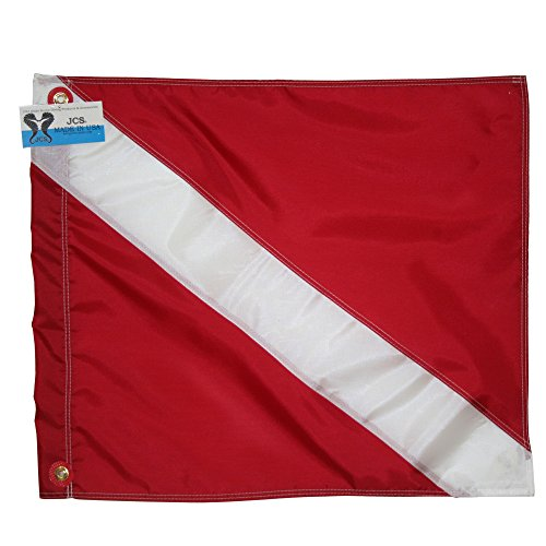 JCS Nylon Dive Flag, Slip on Style, 20inch x 24inch by JCS