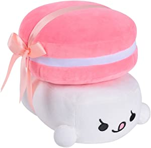 "Choba Food Plush Cushion Pillow 20cm(8.0"") Macaron Medium Pink"